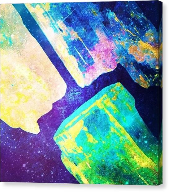 Gemstones Canvas Print - #crystals #stones #metaphysical by Mysti Jade