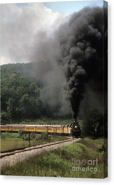 Chessie Steam Special At Lineboro Md Canvas Print