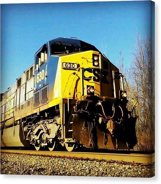 Locomotive Canvas Print - Csx #csx #locomotive #trains #train #ny by Dan Piraino