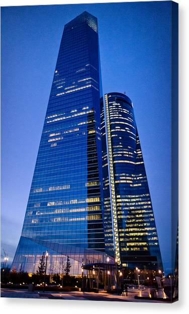 Cuatro Torres Business Area Canvas Print
