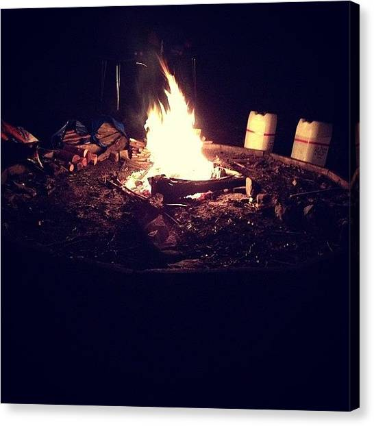 Scouting Canvas Print - Cub Camp #campfire #scouts by Elizabeth Lees 🎶