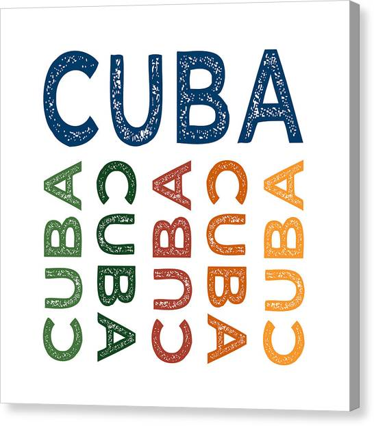 Cuba Canvas Print - Cuba Cute Colorful by Flo Karp