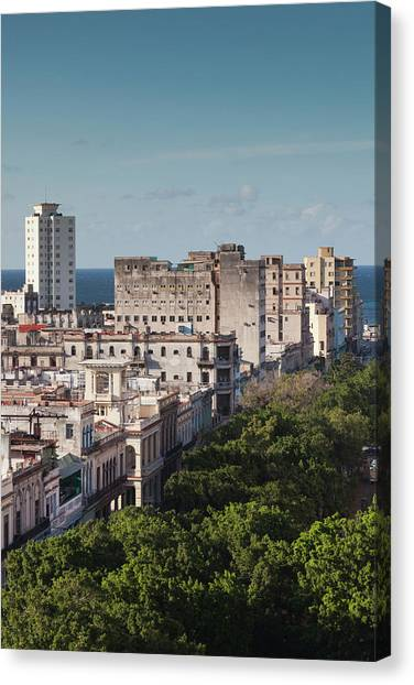 Cuba, Havana, Havana Vieja, Buildings Canvas Print by Walter Bibikow
