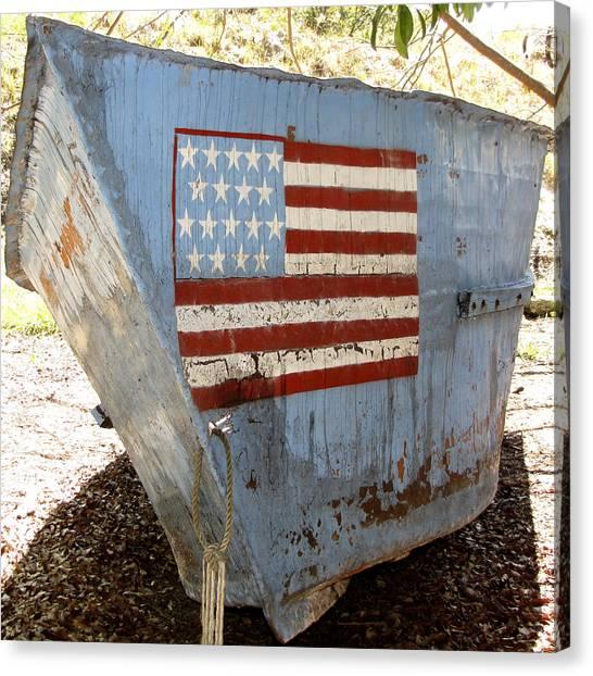 Canvas Print featuring the photograph Cuban Refugee Boat 4 by Bob Slitzan