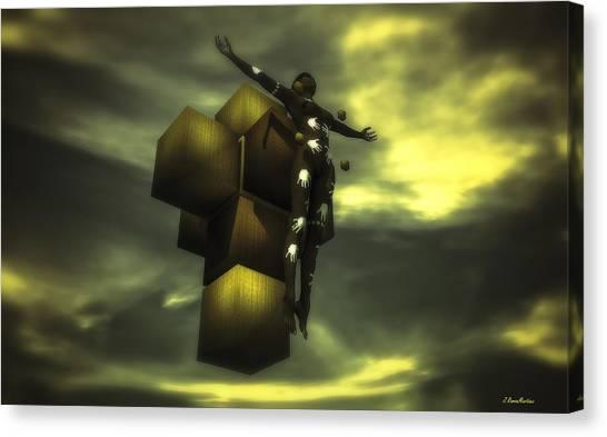 Salvador Dali Canvas Print - Cube Cross by Ramon Martinez