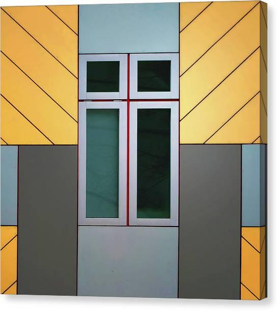 Symmetrical Canvas Print - Cube House by Henk Van Maastricht