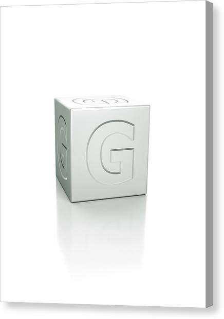 Cube With The Letter G Embossed Canvas Print by David Parker/science Photo Library