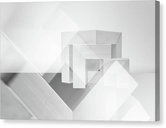 Tetris Canvas Print - Cubic by Luc Vangindertael (lagrange)