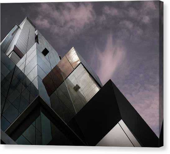 Modern Architecture Canvas Print - Cubic Reflection. by Harry Verschelden