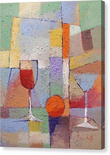 Dinner Table Canvas Print - Cuisine Textured by Lutz Baar