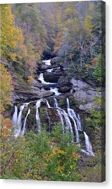Cullasaja Falls Canvas Print by Mary Anne Baker