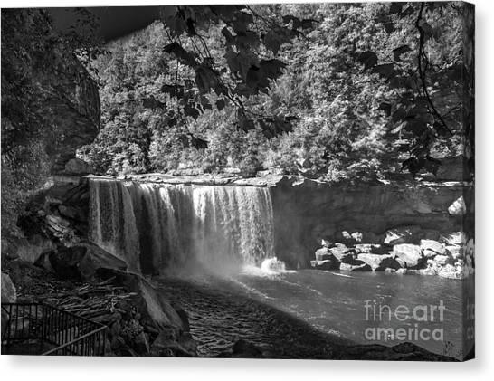 Cumberland Falls Six Bw Canvas Print
