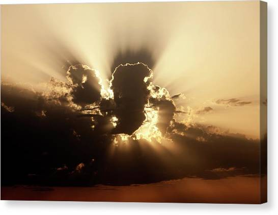 Rainclouds Canvas Print - Cumulus Clouds At Sunset by Pascal Goetgheluck/science Photo Library