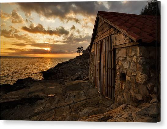 Cunski Beach At Sunrise Canvas Print