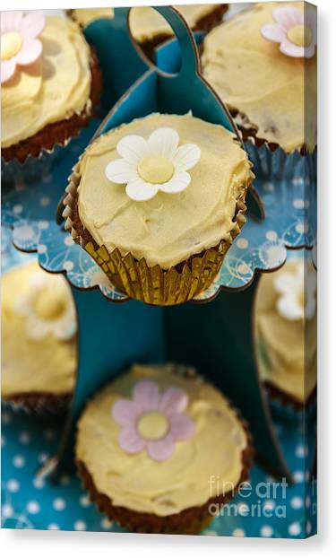Sweet Tea Canvas Print - Cup Cakes by Svetlana Sewell
