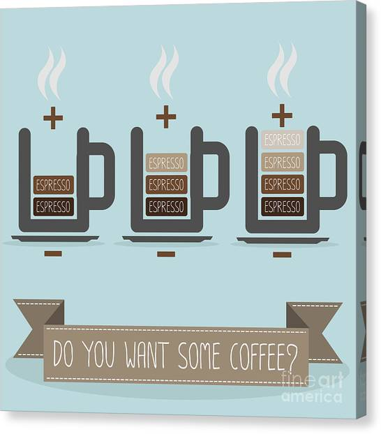 Coffee Beans Canvas Print - Cup Of Coffee Battery by Triangle C