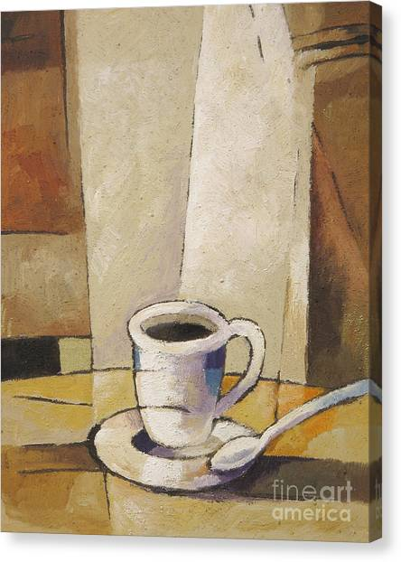 Coffee Canvas Print - Cup Of Coffee by Lutz Baar