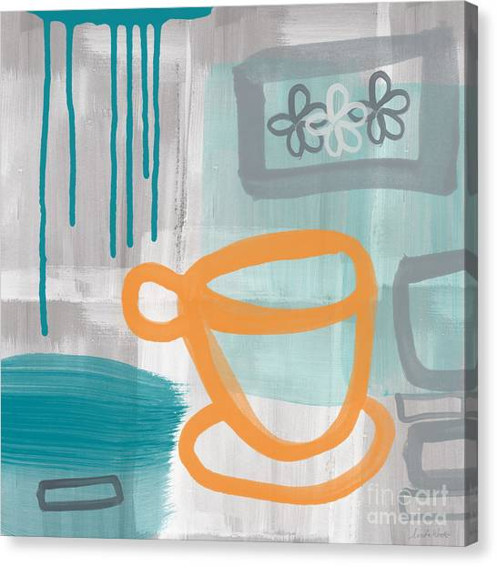 Orange Canvas Print - Cup Of Happiness by Linda Woods