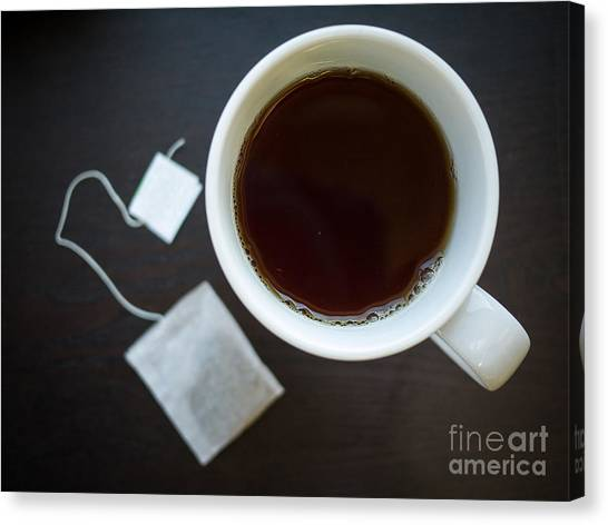 Tea Canvas Print - Cup Of Tea by Edward Fielding