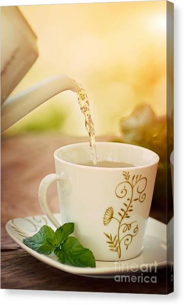 Mythja Canvas Print - Cup Of Tea by Mythja  Photography