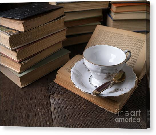 Binders Canvas Print - Cup Of Tea With Old Friends by Edward Fielding