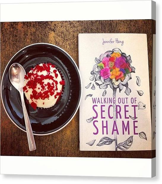 Liquor Canvas Print - Cupcake ☺ And Book by Elizabeth Gan