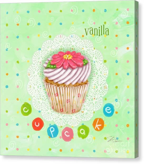 Cupcake-vanilla Canvas Print