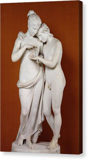 Cupid Canvas Print - Cupid And Psyche by Antonio Canova