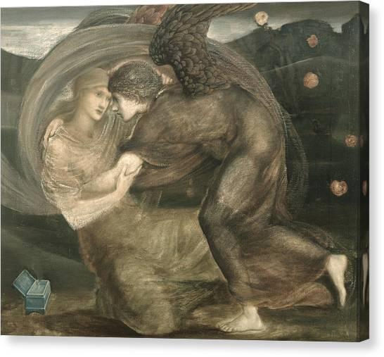 Pre-raphaelite Art Canvas Print - Cupid And Psyche by Sir Edward Coley Burne-Jones