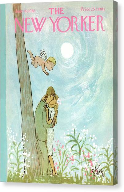 Cupid Canvas Print - Cupid Coupling by William Steig