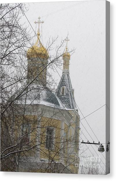 Moscow Skyline Canvas Print - Cupola And Belfry Of The Church Of St Elijah The Holy Prophet II by Anna Yurasovsky