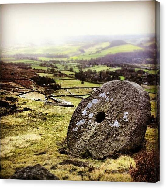 Ford Canvas Print - #curber Edge Mill Stone In The #peak by Alistair Ford