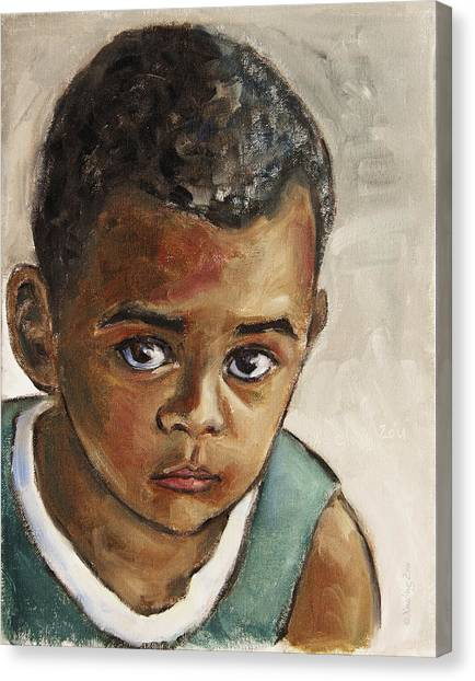 Curious Little Boy Canvas Print