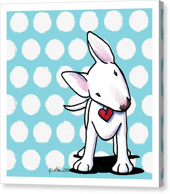 Curious Little Bully Canvas Print by Kim Niles