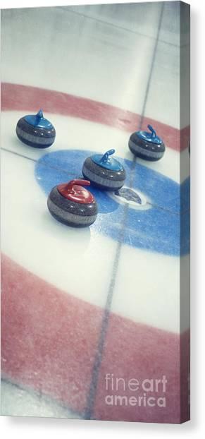 Iced Tea Canvas Print - Curling Stones by Priska Wettstein