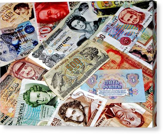 Yen Canvas Print - Currencies by Benjamin Yeager