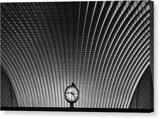 Railroads Canvas Print - Curvature Of Spacetime by Rainer Inderst