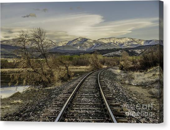 Curve In The Tracks Canvas Print
