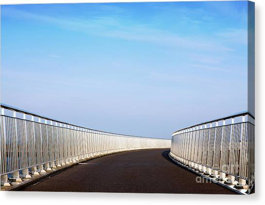 Curved Bridge Canvas Print