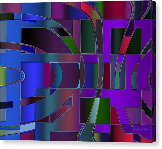 Curves And Trapezoids 2 Canvas Print