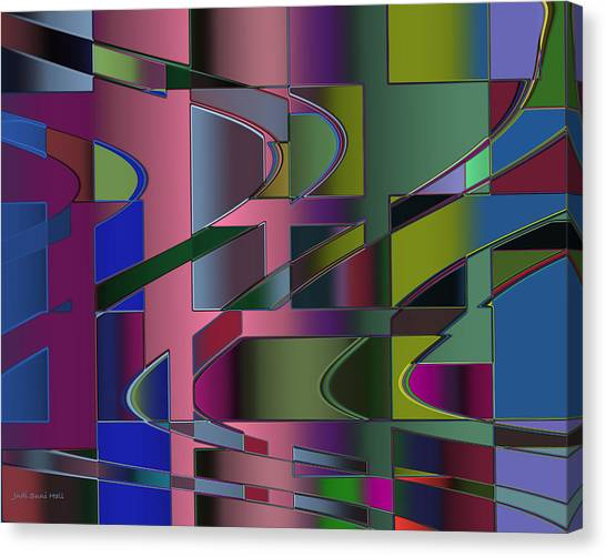 Curves And Trapezoids 3 Canvas Print