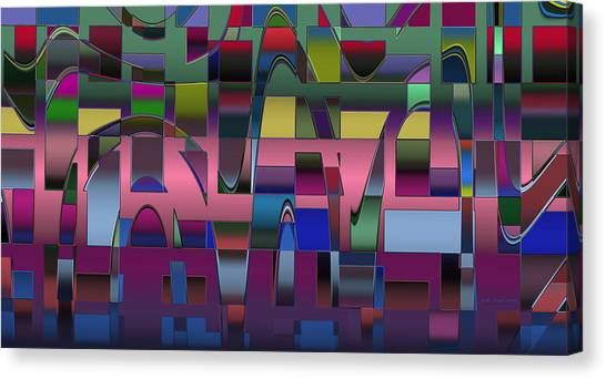 Curves And Trapezoids  Canvas Print