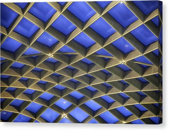Curvilinear Skylight Structure  Canvas Print