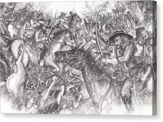 Custer's Clash Canvas Print