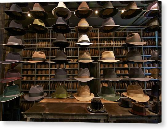 Custom Hats Canvas Print