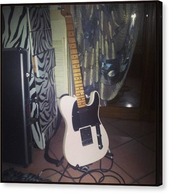 Fender Guitars Canvas Print - Custom My #fender #telecaster #gibson by Philopater Di carlo