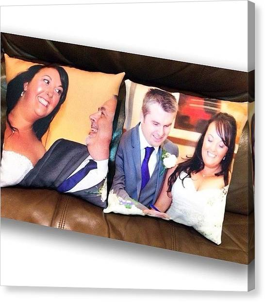 Groom Canvas Print - Custom Wedding Cushions Available From by Avril O