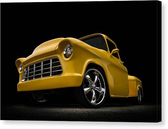 Chevy Pickup Canvas Print - Cut '55 by Douglas Pittman