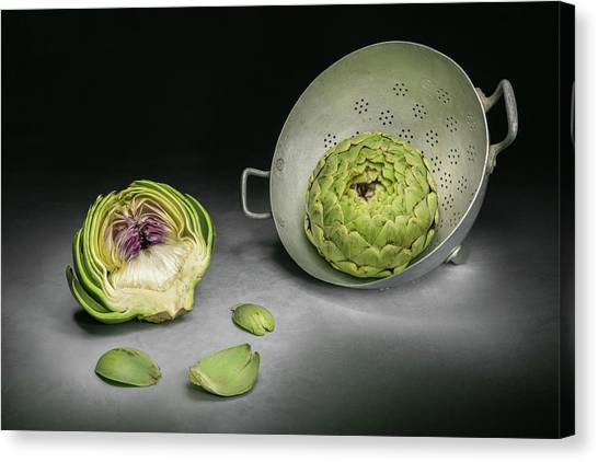 Artichoke Canvas Print - Cutaway by Christophe Verot