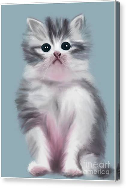 Cute Kitten Canvas Print